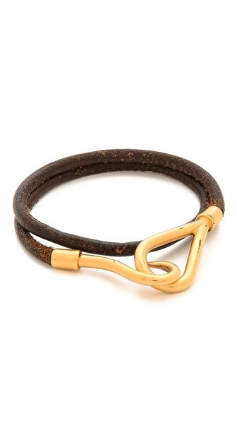 hermes birkin best color - WGACA Vintage Vintage Hermes Gold & Leather Jumbo Bracelet ...