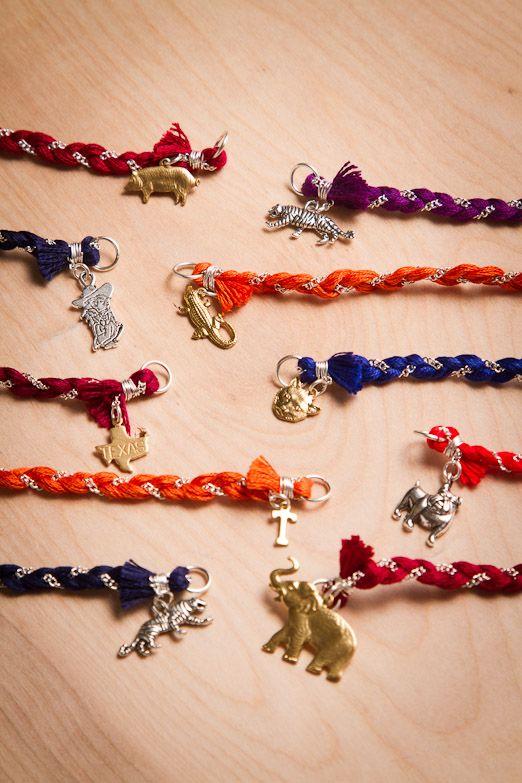 College Mascot charm bracelets  GREAT graduation gift!!