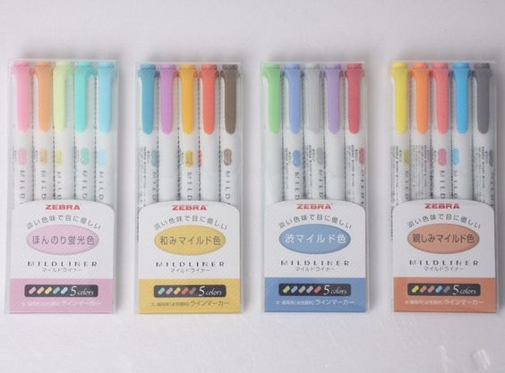 Zebra Mildliner Soft Color Double-Sided Highlighter. Marker Pen 20-Color Full 4 Set. 20 Colors Set consists of. Soft Fluorescent Color. We will follow your opinion first. | eBay!