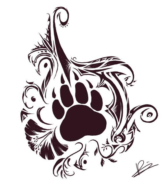 tattoo patte d ours 16 tattoos pinterest pattes de chien tatouages ours et tatouages patte. Black Bedroom Furniture Sets. Home Design Ideas