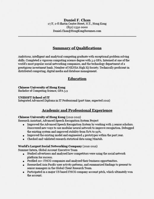 Resume Templates Hong Kong Resume Templates Vorlagen Lebenslauf Lebenslauf