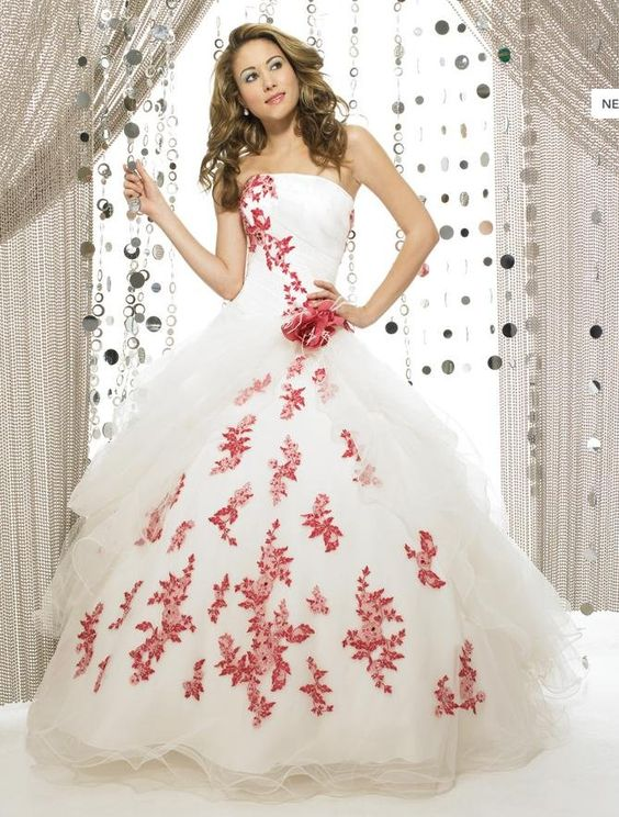 Red Dress With Flowers Re