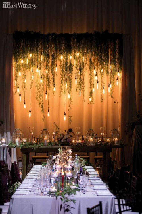 Unique Trends For A Winter Wedding Head Table Wedding Wedding