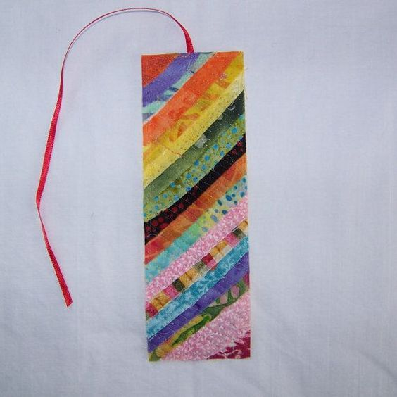 Scrappy Rustic Quilted Bookmark 5 by Scrappyquilter on Etsy, $3.00