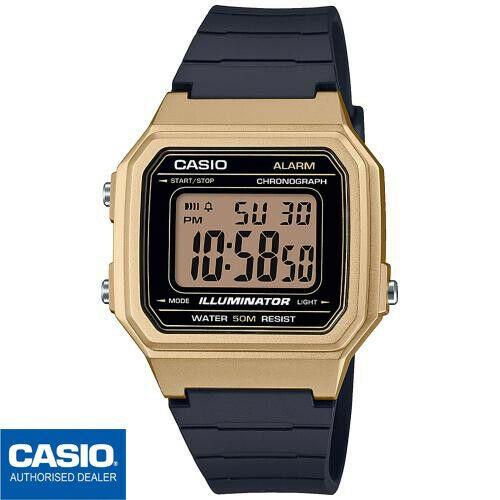 Casio W 217hm 9avef W 217hm 9a Original Envio Certificado Dorado Vintage Gold Reloj Digital Reloj De Cuarzo Reloj