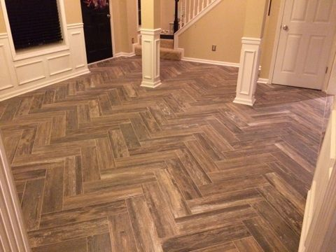 Mediterranea Boardwalk Series Venice Beach Porcelain Wood Look Tile On Herringbone Pattern Love
