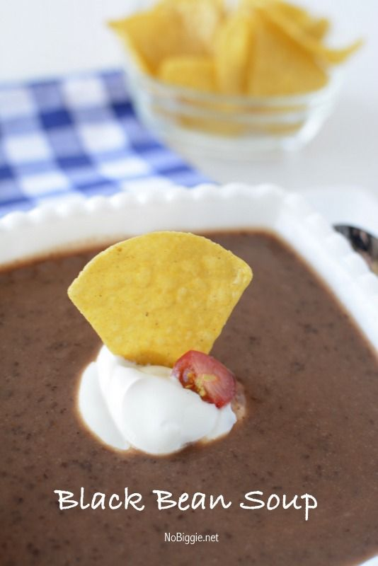 Black bean soup, Black beans and Beans on Pinterest