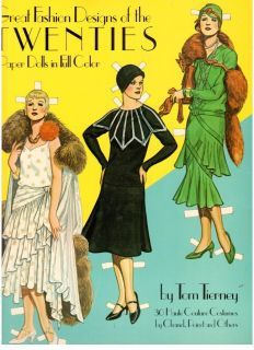 Tom Tierney 4 UNCUT 20s 30s 40s 50s Fashion Design Paper Dolls 1980s