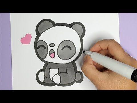 Dixitdraw Youtube Baby Panda Buchstaben Zeichnen Niedlicher Panda