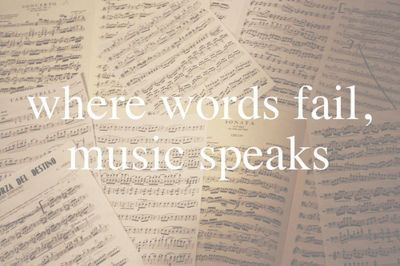 Where words fail, music speaks. - Music quote by Hans Christian Anderson