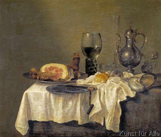 Willem Claesz. Heda - Frühstückstisch mit Schinken