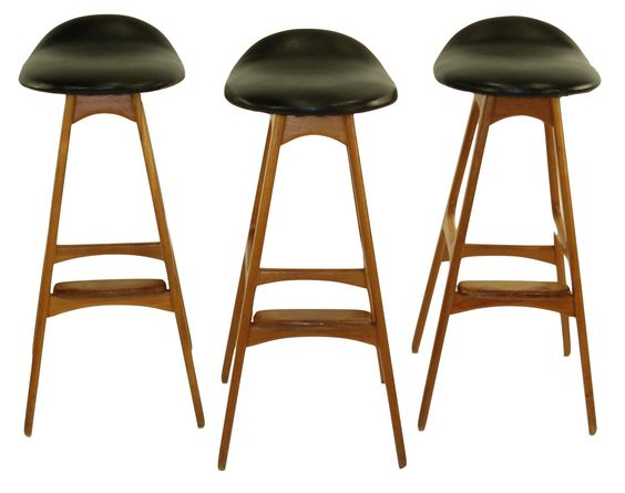Modern Teak and Rosewood Barstools by Erik_Buck