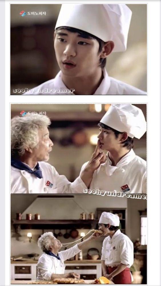 [info-CF]110610 Kim SooHyun & Gang Sin Seongil Domino's Pizza CF released!