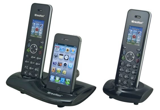 Cordless Phone with iPhone Dock - Doing away with landlines, one iPhone at a time.