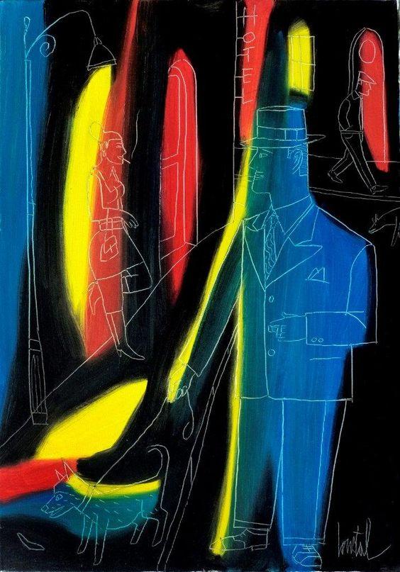 <p><strong><em>La rue</em></strong> - 2014<br>   Huile sur toile grattée<br>   Format : 38 x 55 cm<br>   <strong>REF : Loustal-fx-83</strong><br>   PVP : 2.200€</p>
