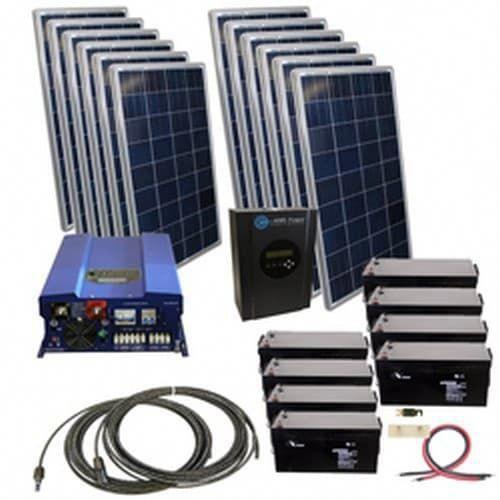 2880 Watt Off Grid Solar Kit With Solar Rack And 12000 Watt Power Inverter Charger 120 240 48 Volt In 2020 Solar Kit Solar Energy Panels Solar Panels