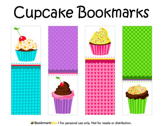 bookworm bookmark template - free printable cupcake bookmarks download the pdf