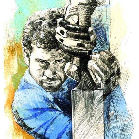 Sachin Tendulkar | A Bugs Design | Pinterest | Cricket ...