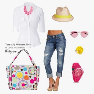 Thirty-One Totally Awesome Beach Tote