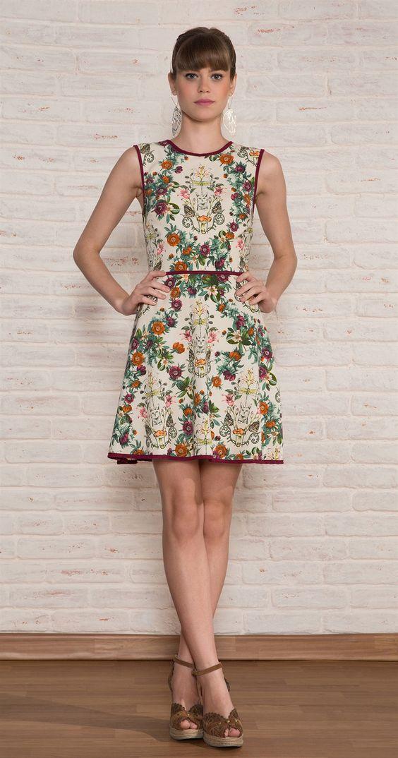 Vestido Curto Gato Jardim | Vestuário | Antix Store: