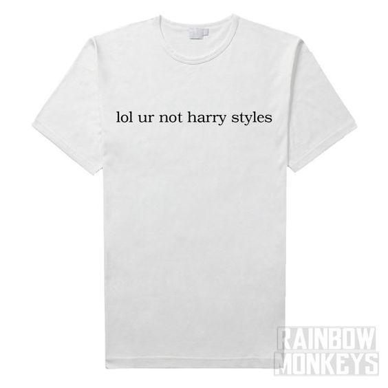 Lol vous nêtes pas harry styles T-Shirt  Mensurations de chemise : PETIT…