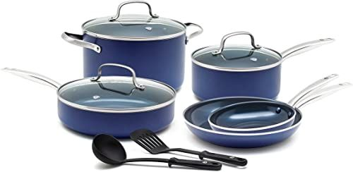Amazing Offer On Blue Diamond Toxin Free Ceramic Nonstick Cookware Set Big Value Online Wouldtopshopping In 2020 Ceramic Cookware Set Nonstick Cookware Cookware Set Stainless Steel