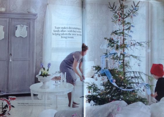 Christmas in a Gustavian inspired home in Finland. Romantic Homes December 2014.