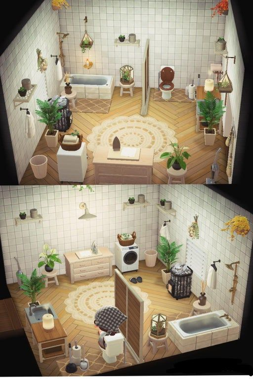 Just Finished My Bathroom But Still A Bit Unsure Feedback And Ideas Are Very Welcome Anim In 2020 Animal Crossing 3ds Animal Crossing Animal Crossing Wild World