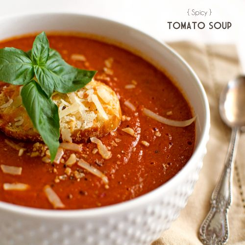 Spicy Roasted Tomato Soup | Fork Knife Swoon