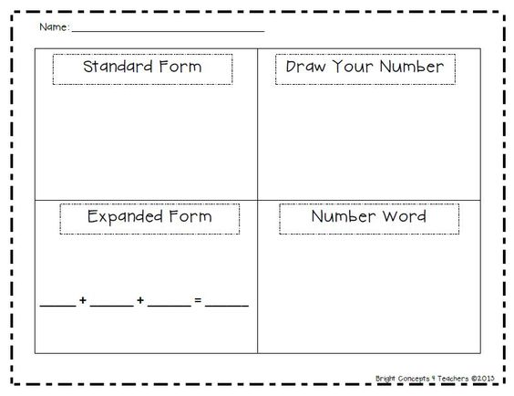 Place value worksheets expanded form and what 39 s the on for Sdaie lesson plan template