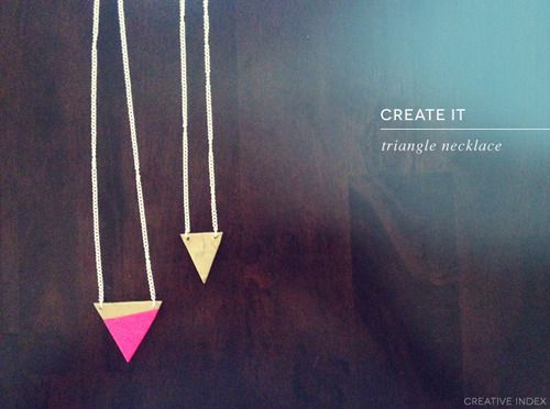 Creative: Eleven DIY Polymer Clay Projects  (Tutorial via :creative index: triangle necklace)