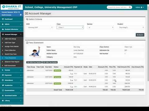 Dhaka It School Management Software Part 11 Reports