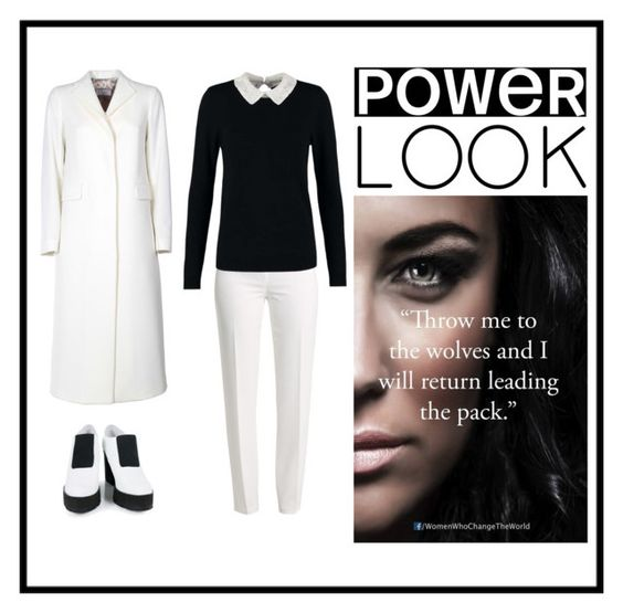 """Every woman can be a leader"" by luvyym ❤ liked on Polyvore featuring Basler, Dorothy Perkins, Alberto Biani, Miista and powerlook"