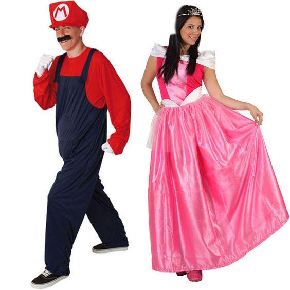 Pareja disfraces de mario bros y la princesa parejas - Difraces para carnaval ...