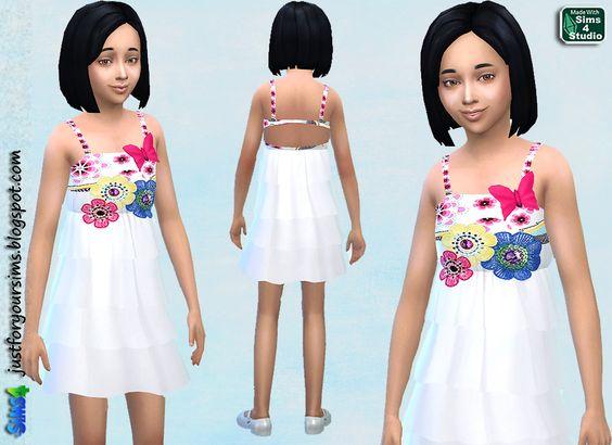 Sims 4 white dress