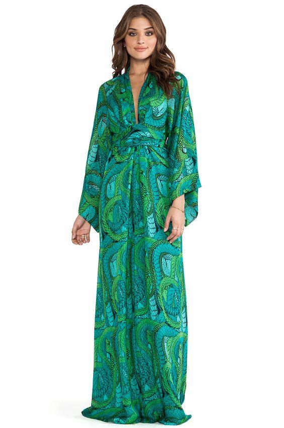 Maxi dress kimono style