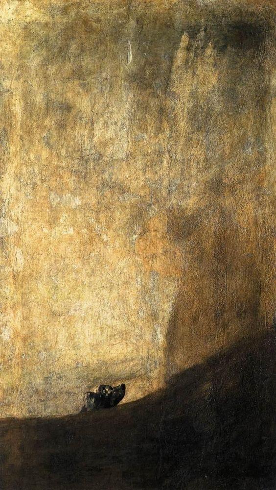 Francisco José de Goya y Lucientes   El perro semihundido. Museo del Prado, Madrid