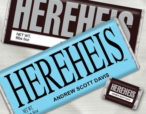 Birth Announcements for Boys Candy bars and wrappers – Hershey Bar Birth Announcements