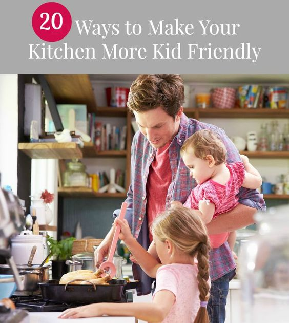 Helpful modifications to make your kitchen safer for young kids.