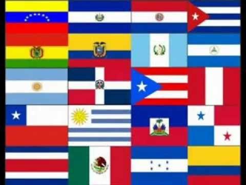 Himno De Las Americas Banderas De América Latina Himnos Tectonica De Placas
