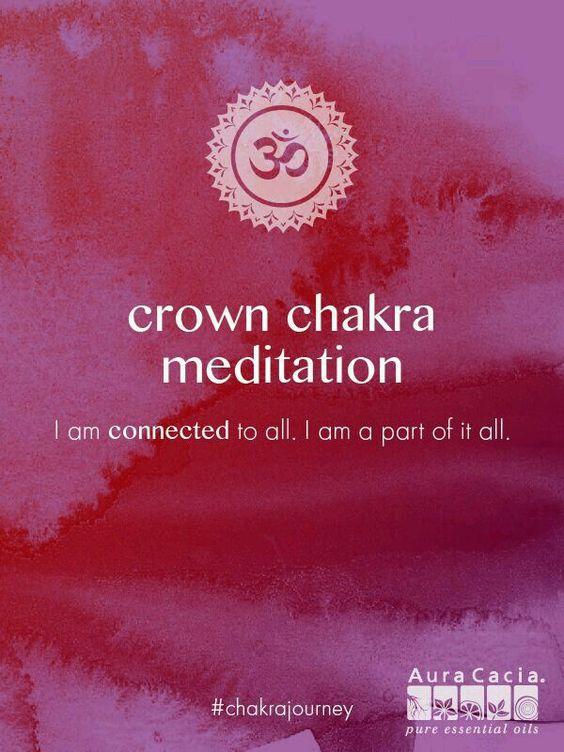 Crown Chakra meditation. #AuraCacia #chakrajourney ...