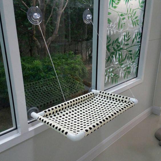 Chat de fenêtre lit chat lit meubles de chat perche par ByAdissara