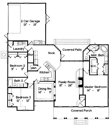 Country With Style (HWBDO06927) | Country House Plan from BuilderHousePlans.com