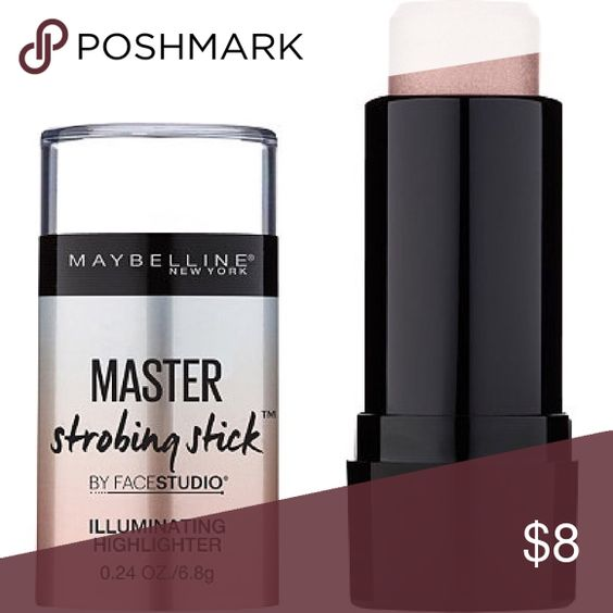 SET OF 2 Maybelline master strobing glow stick 200 Brand new never used. Still sealed and it's the full sized product. Will last a very long time.  One of the products are color 100 and the other is 200 Maybelline Makeup Luminizer