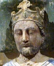 Richard I (1189-1199) ~ The third of King Henry II's legitimate sons, Richard was never expected to accede to the throne.  He was, however, the favorite son of his mother, Eleanor of Aquitane.  When his parents separated, he remained in Eleanor's care, and was invested with her duchy of Aquitane in 1168, and of Poitiers in 1172.