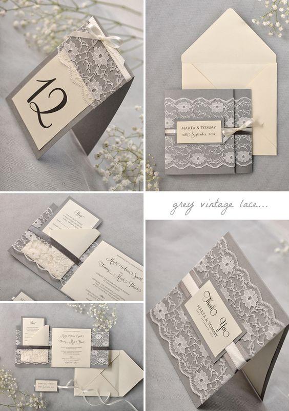 grey-vintage-lace-wedding-invitation-suite