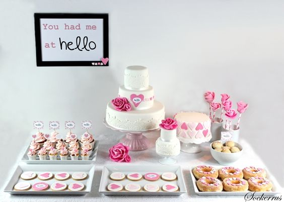 The most amazing dessert-table - pink and girlie