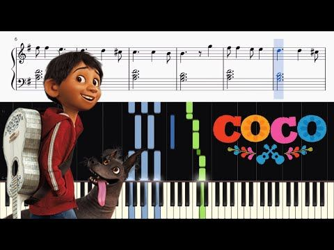 Disney S Coco Remember Me Lullaby Piano Tutorial Sheets
