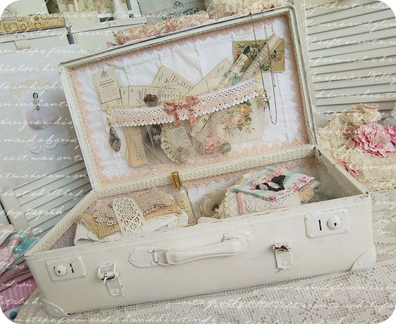 small vintage suitcase to store altered art supplies