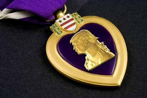 Help Trump Get a Purple Heart by Cameron Kerr - GoFundMe Purple Trump Fantastic Medal for Huge Classy Terrific-ness and Definitely Not for Total Lightweights, Captured POW Losers, or Unfair Meanie-heads